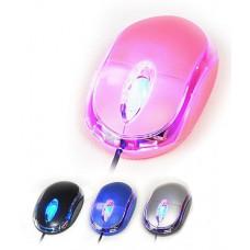 MINI MOUSE OPTICAL USB 1000cpi LED AZUL