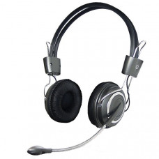 HEADFONE C/ MICROFONE/VOLUME/BASS GRAFITE