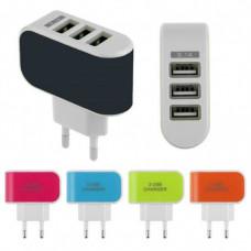CARREGADOR DE VIAGEM 3 USB COM LED