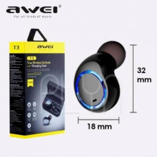 Fone De Ouvido Sport Bluetooth Intra Auricular Awei Tws T3fo